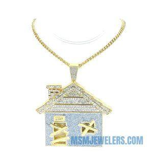 "Traphouse Pendant + 24"" 5mm Cuban Chain Necklace"